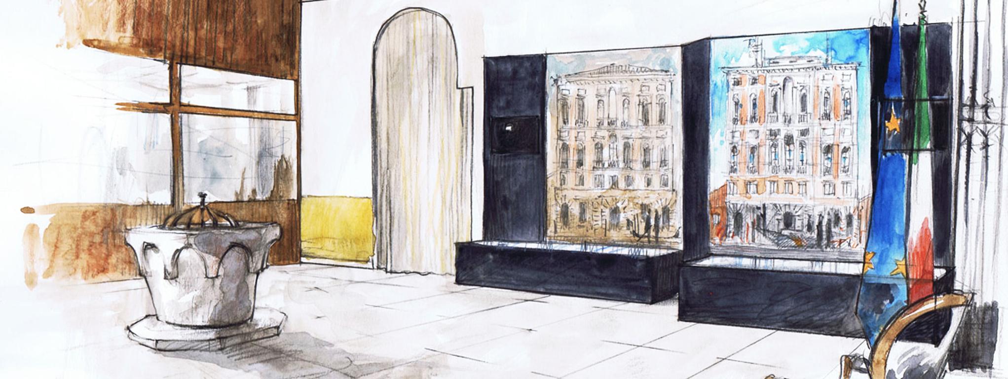 Allestimenti, tostapaner studio a Palazzo Ducale,Venezia
